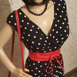 Ralph Lauren Dresses - Polka dot dress, belt and necklace